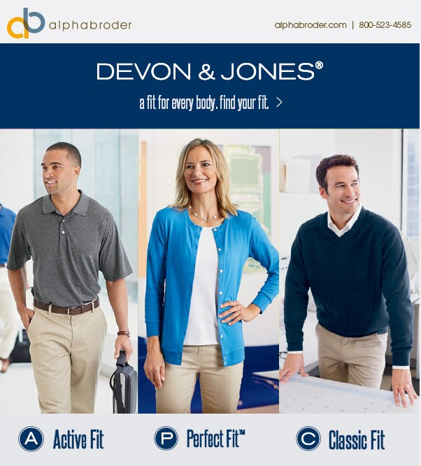 Devon and Jones. Classic, Active, Perfect Fit